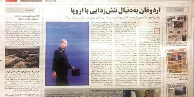 Erdoğan İran'da manşetlerde