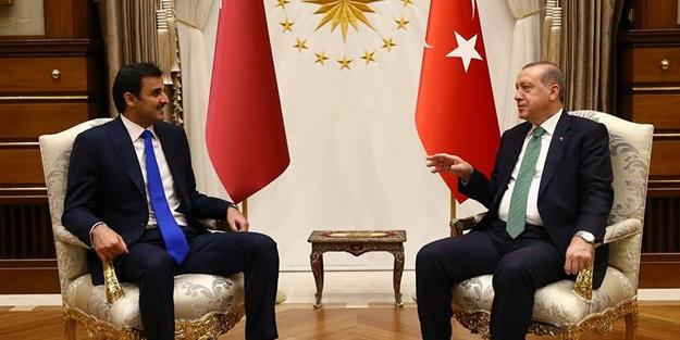 Erdoğan, Katar Emiri ile bir araya geldi