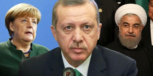Erdoğan Merkel ve Ruhani ile telefonda konuştu