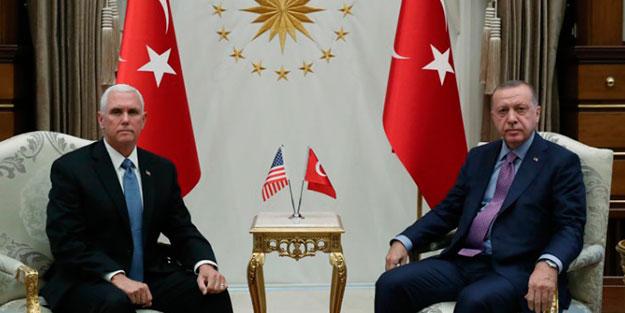 Erdoğan - Mike Pence görüşmesi sona erdi