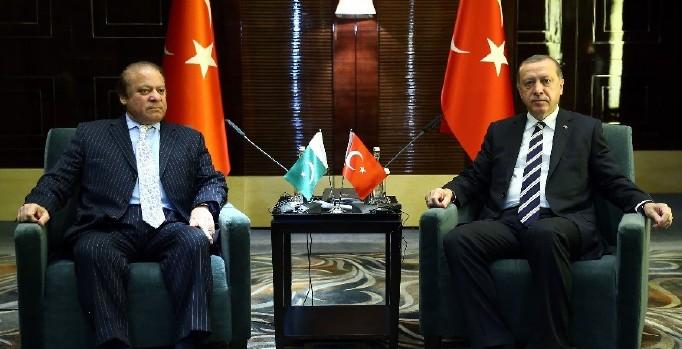 Erdoğan, Pakistan Başbakanı Şerif'i kabul etti