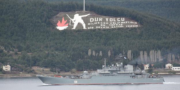 Erdoğan-Putin zirvesi sürerken, Çanakkale Boğazı'nda dikkat çeken görüntü