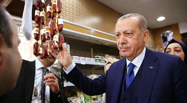 Erdoğan şarküteriden alışveriş yaptı!