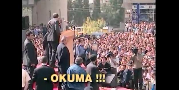 """Erdoğan şiir okumak isteyince """"Okuma"""" diye bağırdılar"""