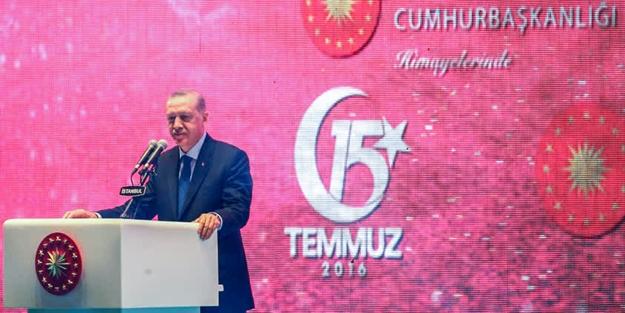 Erdoğan: Tankların arasından sıvışanları unutmayacağız