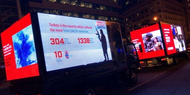 Erdoğan-Trump görüşmesine saatler kala Beyaz Saray yakınlarında gezen bu kamyonetler gündem oldu