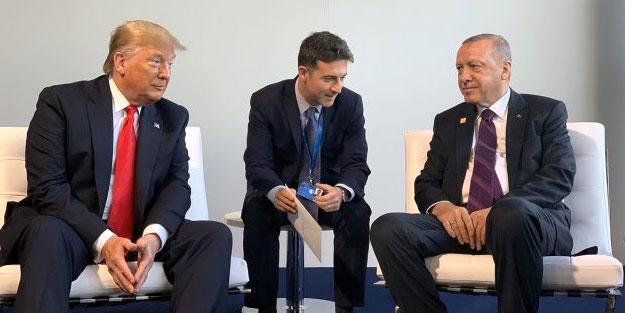 Erdoğan, Trump ile bir araya geldi