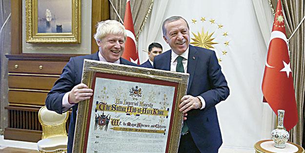 Erdoğan ve Yıldırım, Johnson'ı kabul etti