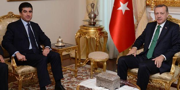Erdoğan, Barzani ile 3 saat görüştü