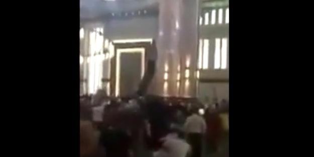Erdoğan'ı camide gören kadın bağırınca...