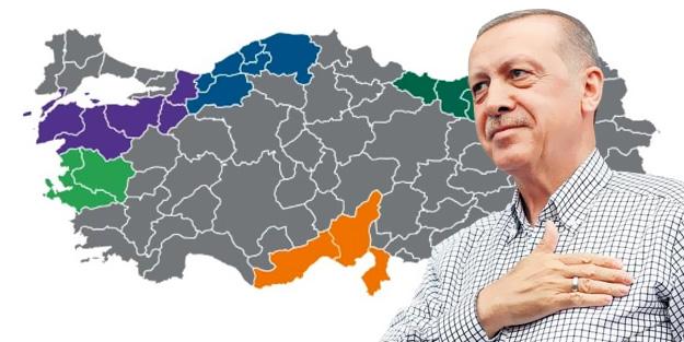 ERDOĞAN'IN MÜJDESİNİ VERDİĞİ 'MEGA BÖLGELER' BELLİ OLDU