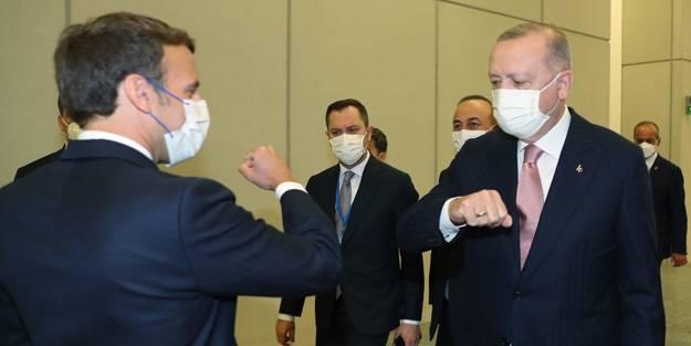 Erdoğan'la görüşme sonrası Macron'dan açıklama: Libya'da ile birlikte  çalışacağız