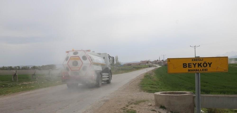 Ereğli'de dezenfekte çalışmaları 87 mahallede sürüyor