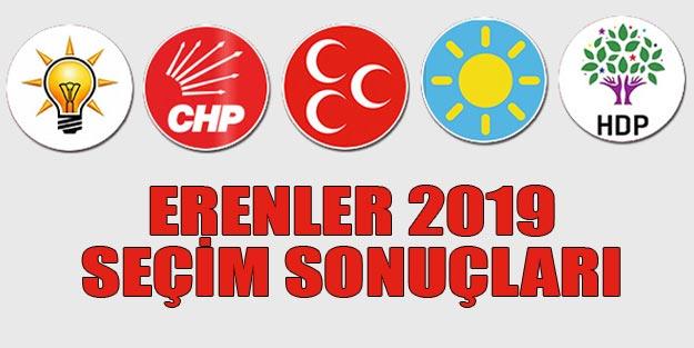 Erenler seçim sonuçları 2019 | Sakarya Erenler 31 Mart seçim sonuçları oy oranları