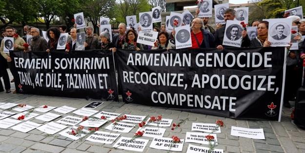 Ermeni yalanıyla toplananları susturan slogan!