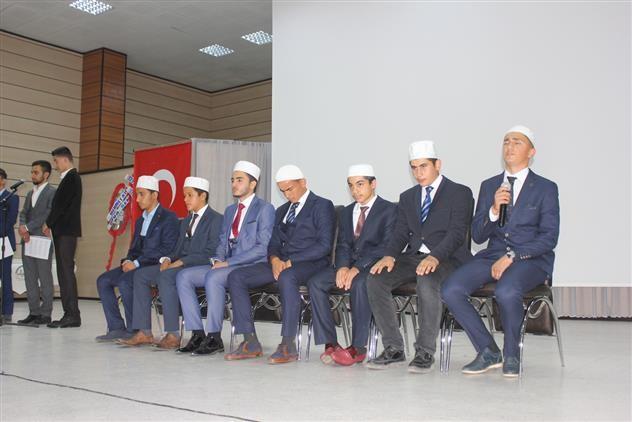 Erzincan'da öğrencilerden Kur'an-ı Kerim tilaveti