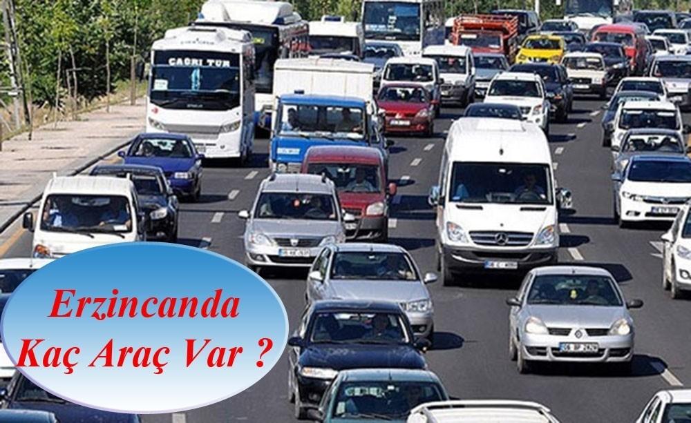 Erzincan'da trafiğe kayıtlı araç sayısı 59 bin 815 oldu