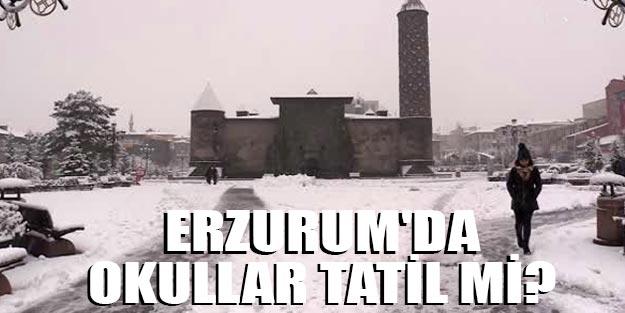 Erzurum yarın okullar tatil mi son dakika Erzurum kar tatili 3 Aralık