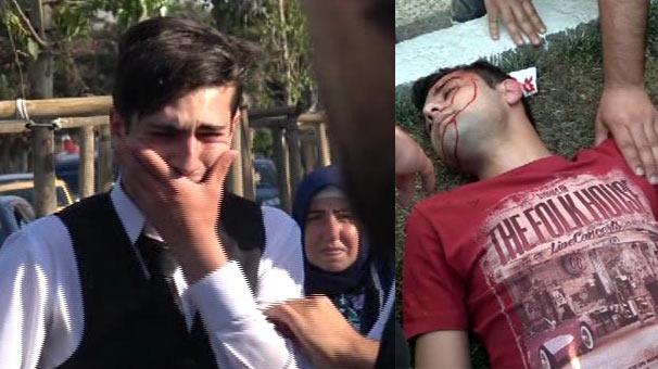 Erzurum'da çarpmamak için refüje çıktı, kırdığı ağaç yayayı yaraladı