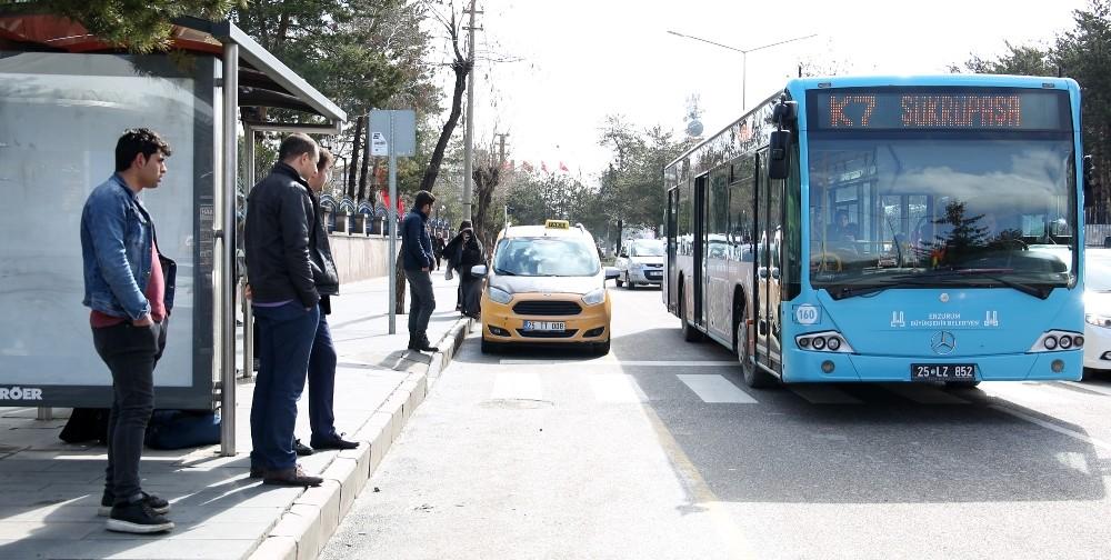 Erzurum'da toplu ulaşımda son sefer saati düzenlemesi