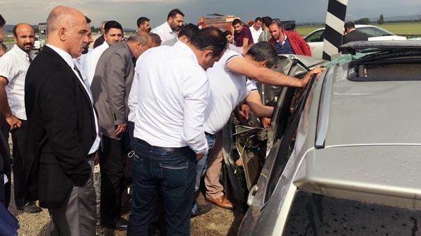Erzurum'da zincirleme trafik kazası: 4 kişi yaralı