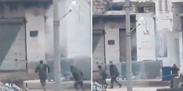 Esad askerlerinin İdlib'ten kaçış anları böyle görüntülendi