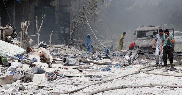 Esad Halep'te taziye çadırını vurdu: 20 ölü