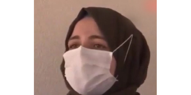 Eşarbına saldıran magandayı anlatırken gözyaşlarını tutamadı