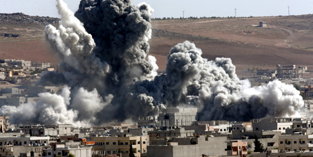 Esed rejiminden küstah saldırı! Halkın gıda kaynakları bombalandı