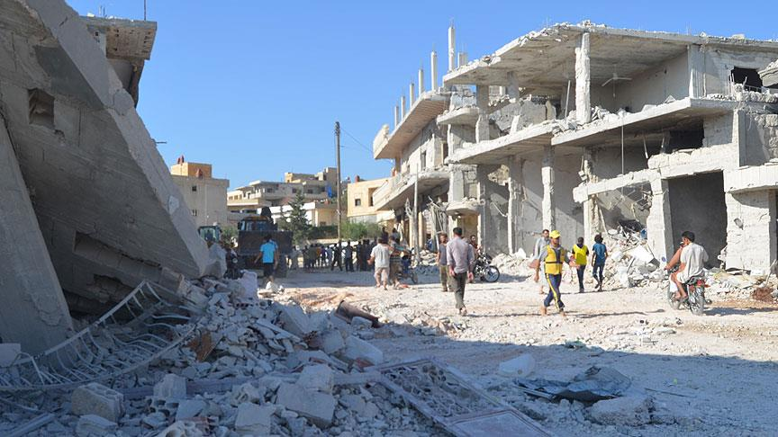 Esed yine sivilleri 'varil bombasıyla' vurdu