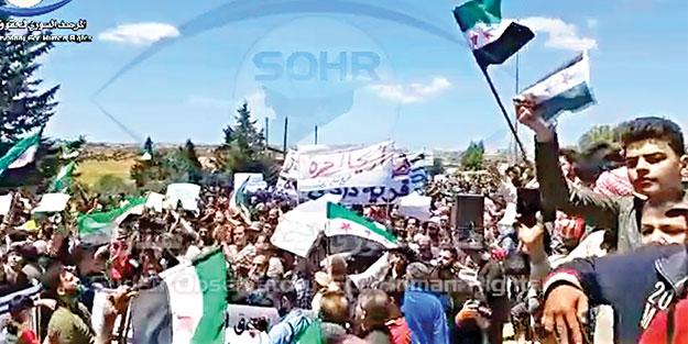Esed'e protesto Türkiye'ye çağrı