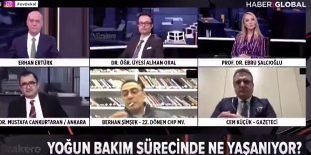 Eski CHP'li vekil canlı yayında olduğunu unutunca sigara yaktı