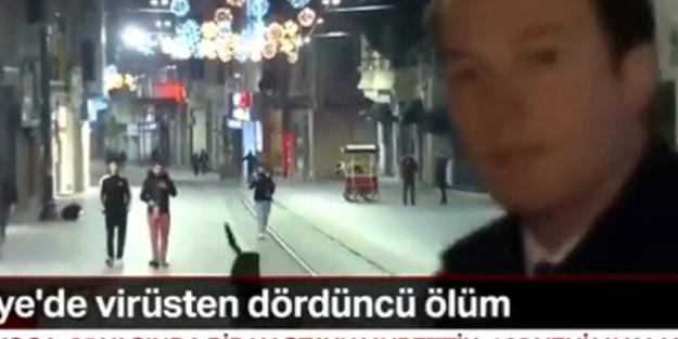'#EvdeKalTürkiye hashtagi'ni takmadılar! Canlı yayında köpek kovaladı