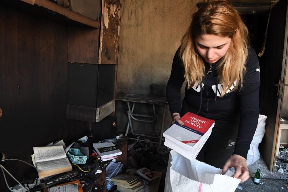 Evi yanan stajyer avukata Konyaaltı Belediyesi yardım eli uzattı