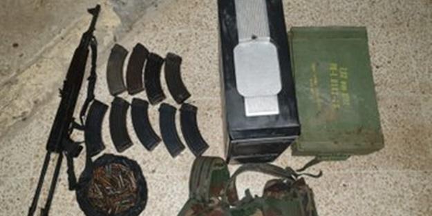 Eylem hazırlığı yapan YPG'li teröristler yakayı ele verdi