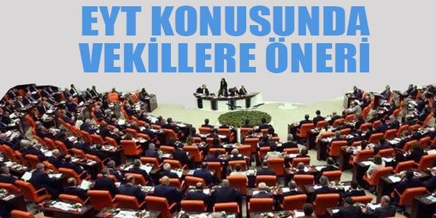 EYT konusunda milletvekillerine çözüm önerisi yapıldı