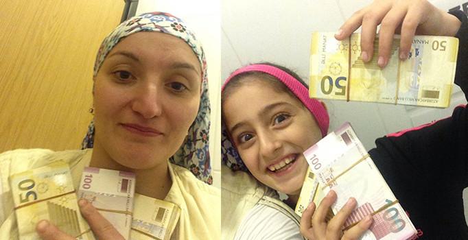 Eyüp'te bir kadın minibüs beklerken 50 bin TL para buldu