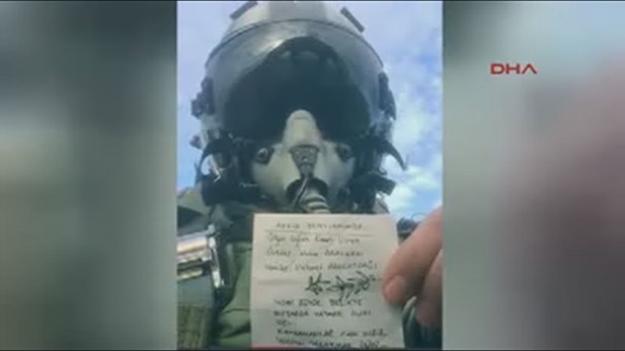 F-16 pilotu bu notu paylaşıp bomba yağdırdı!