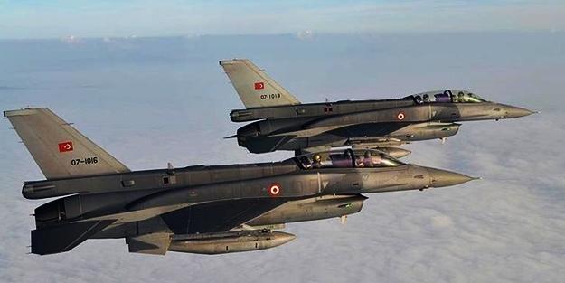 F-16'lar havalandı! Teröristlerin hepsi imha edildi
