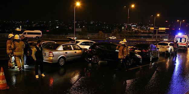 İstanbul'da 11 aracın karıştığı zincirleme kaza