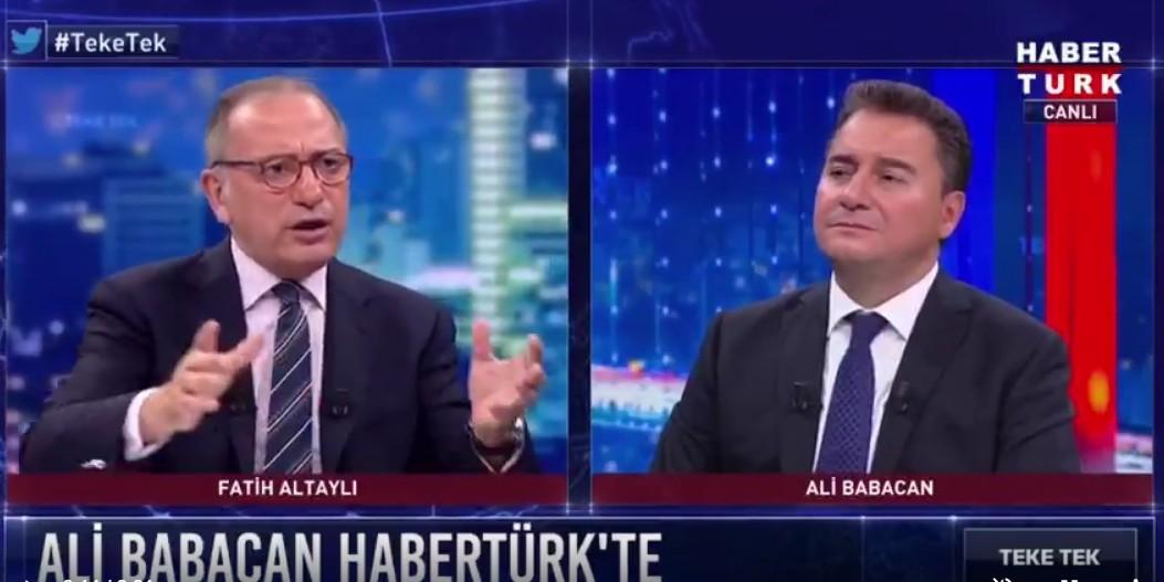 Fatih Altaylı'dan Ali Babacan'a olay yorum: Size parti lideri diyemeyeceğim çünkü...