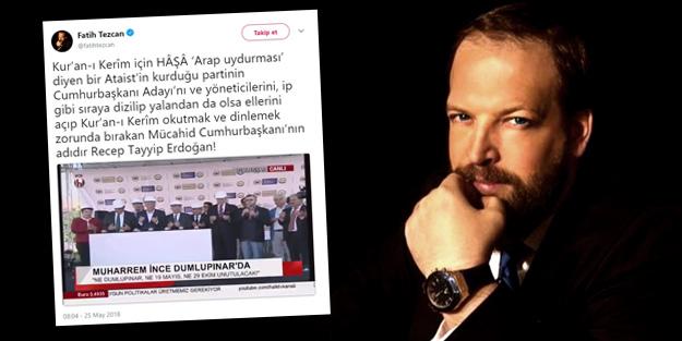 Fatih Tezcan'a FETÖ ve Kemalistlerden linç kampanyası!