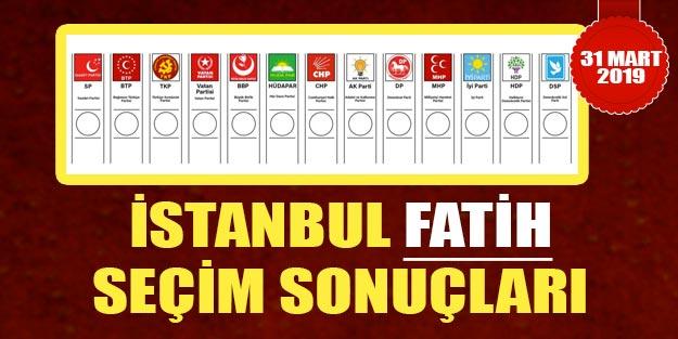 Fatih yerel seçim sonuçları 2019 | İstanbul Fatih yerel seçim 2019 seçim sonuçları oy oranları