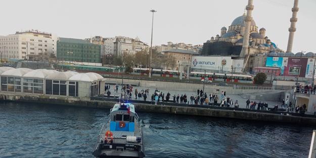 Fatih'te bir kişi denizde boğuldu