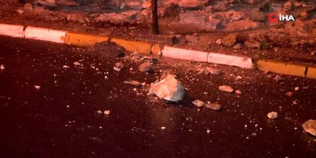 Fatih'te surlardan kopan taşlar yola saçıldı
