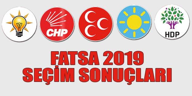 Fatsa seçim sonuçları 2019 | Ordu Fatsa 31 Mart seçim sonuçları oy oranları