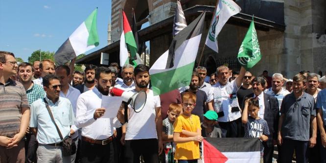 İsrail Edirne'de protesto edildi