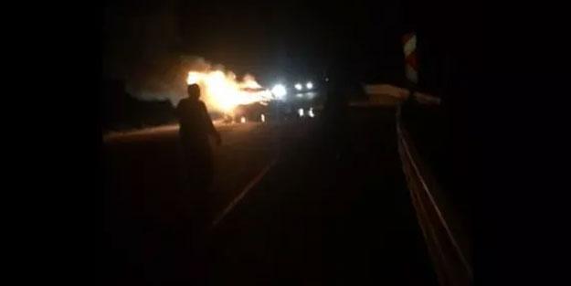 Feci kazada 3 kişi yanarak can verdi