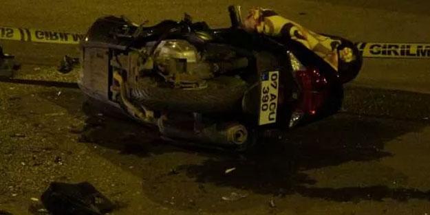 Feci kazada motosiklet sürücüsü hayatını kaybetti