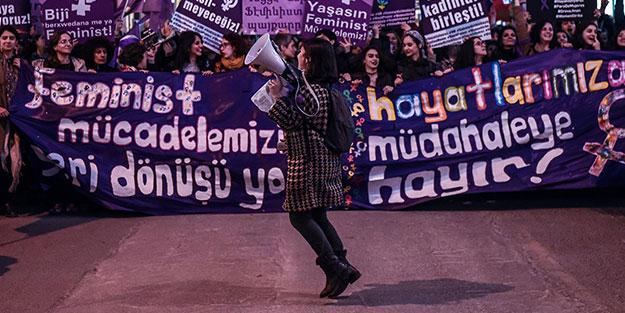 Erdoğan'ın sonu olurmuş! Feministler şimdi de tehdide başvurdu